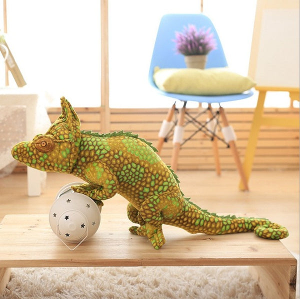Real Life Plush Simulated Lizard Stuffed Toy Chameleon Doll Children's Plushed Educational Science Crawling Toy