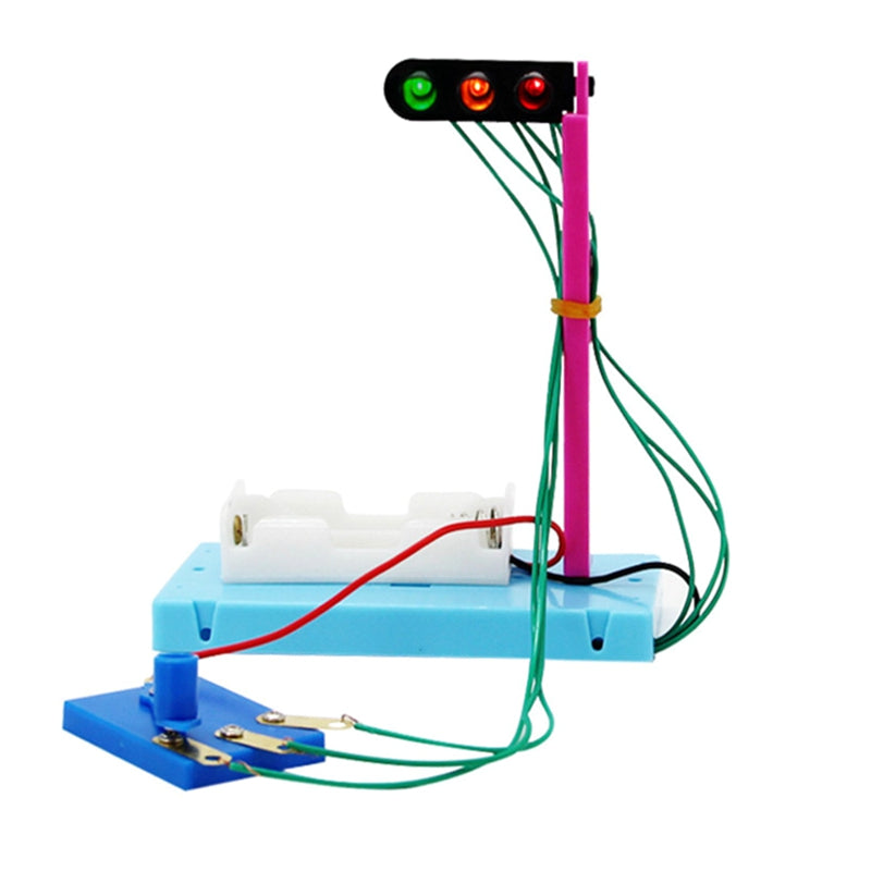 traffic light Science educational toy DIY handmade Scientific experiments Discovery Toys science kits best gifts for kids child