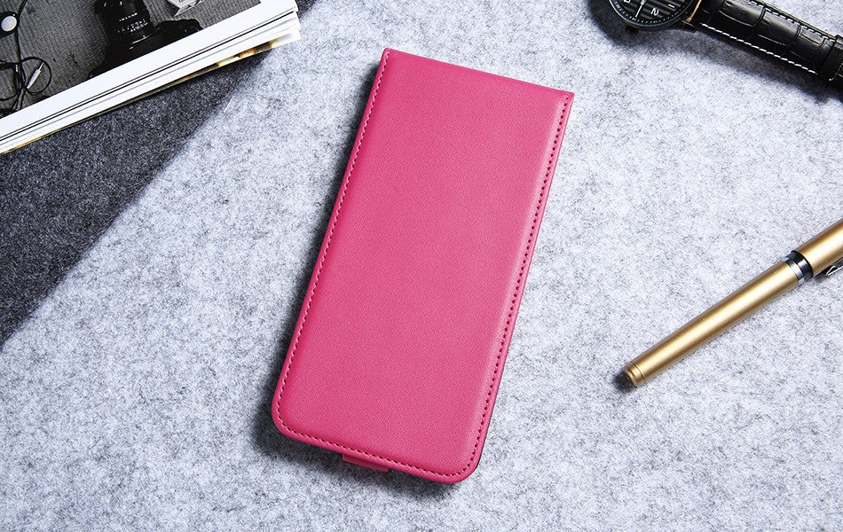 Vertical PU Leather Flip Case For iPhone Luxury Phone Cases Cover - Elegant Case