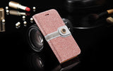 Retro Wallet Stand PU Leather Case for iPhone - Elegant Case