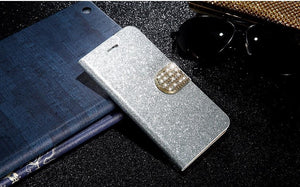 Luxury Glitter Flip Leather Case Cover For Apple iPhone - Elegant Case