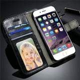 Vintage Flip Leather Case For iPhone Book Style Stand - Elegant Case