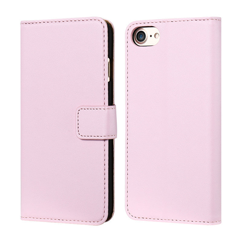 Vintage Genuine Leather Case For iPhone With Two Credit Card Holders - Elegant Case