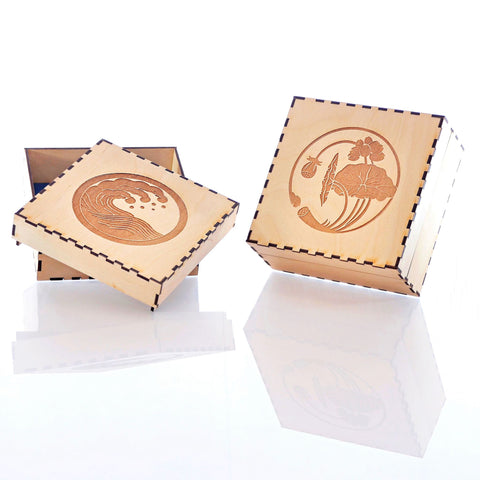 "Wood boxes (5.5"" Square)"