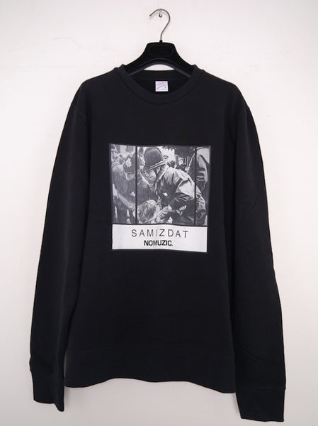 SM068 NO MUZIC CREWNECK SWEATSHIRT - BLACK