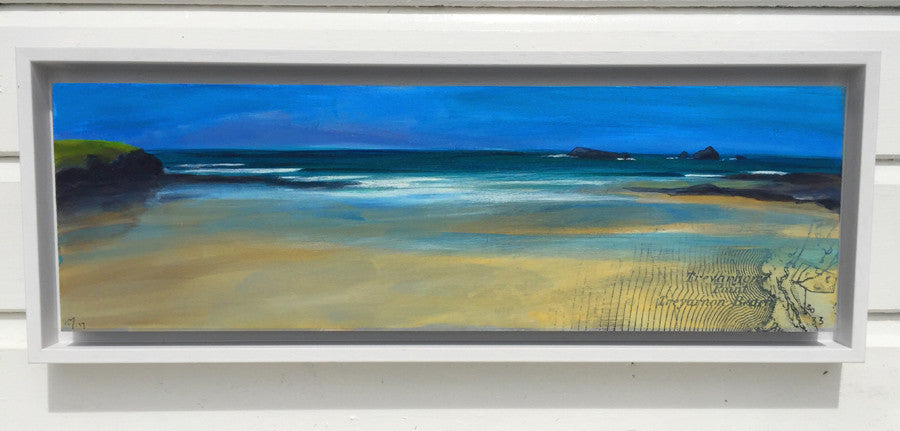 Panoramic painting of Treyarnon  Bay