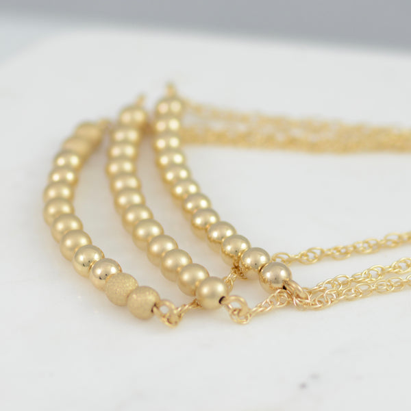 Adjustable Gold Beads Bracelet - Sash Jewelry