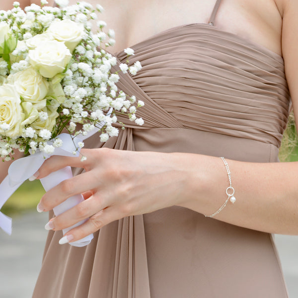 Bridesmaid Pearl Bracelet - Sash Jewelry