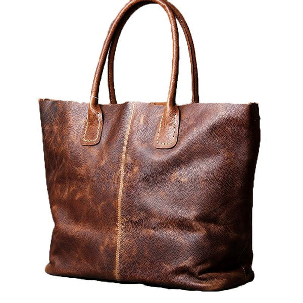 Leather Tote Bag, Large CarryAll, Shopping Bag, Women Shoulder Bag, Macbook Leather Bag OAK-043 - Leajanebag