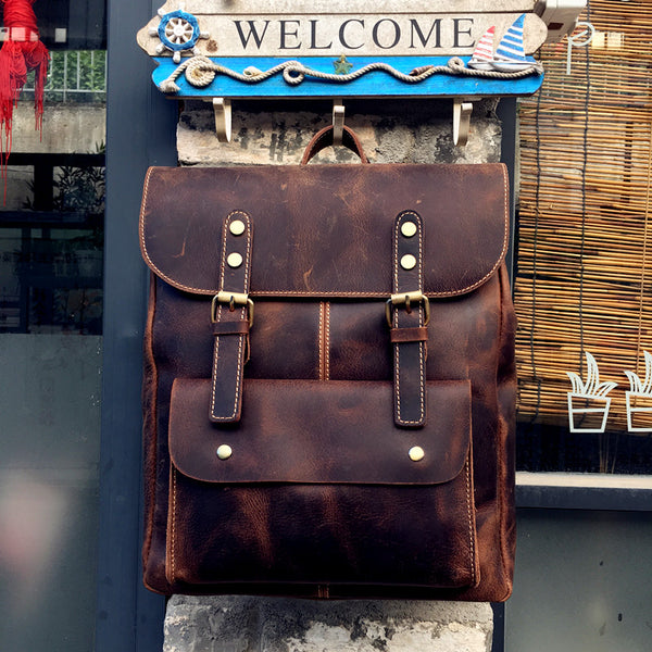 Leather Backpack, Classic Travel Backpack,School Backpack  MT004 - Leajanebag
