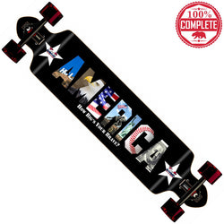 "How Big's Your Brave America Longboard Double Drop Through Complete 9"" x 41"" - Double Drop Longboard - CALI Strong"