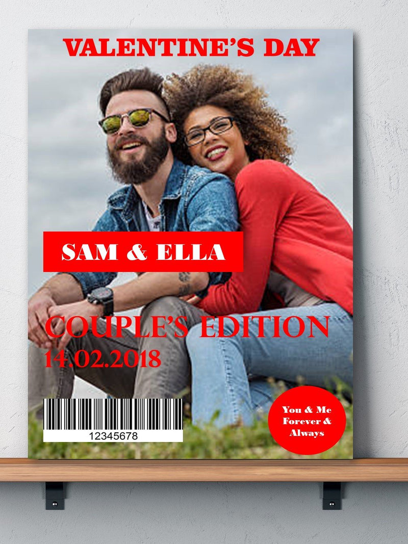 Personalised Magazine Design Valentine's Day Photo Cards