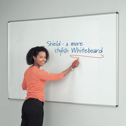 Shield Deluxe Aluminium Framed Whiteboard with 4 Frame Colour Options