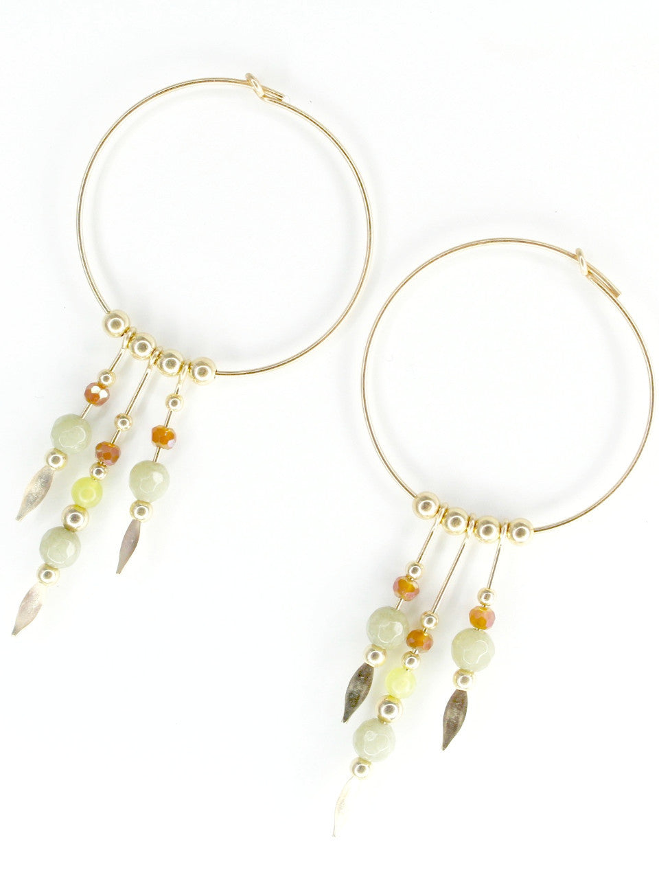 THE DREAMERS STONE • Gray Jade Earrings