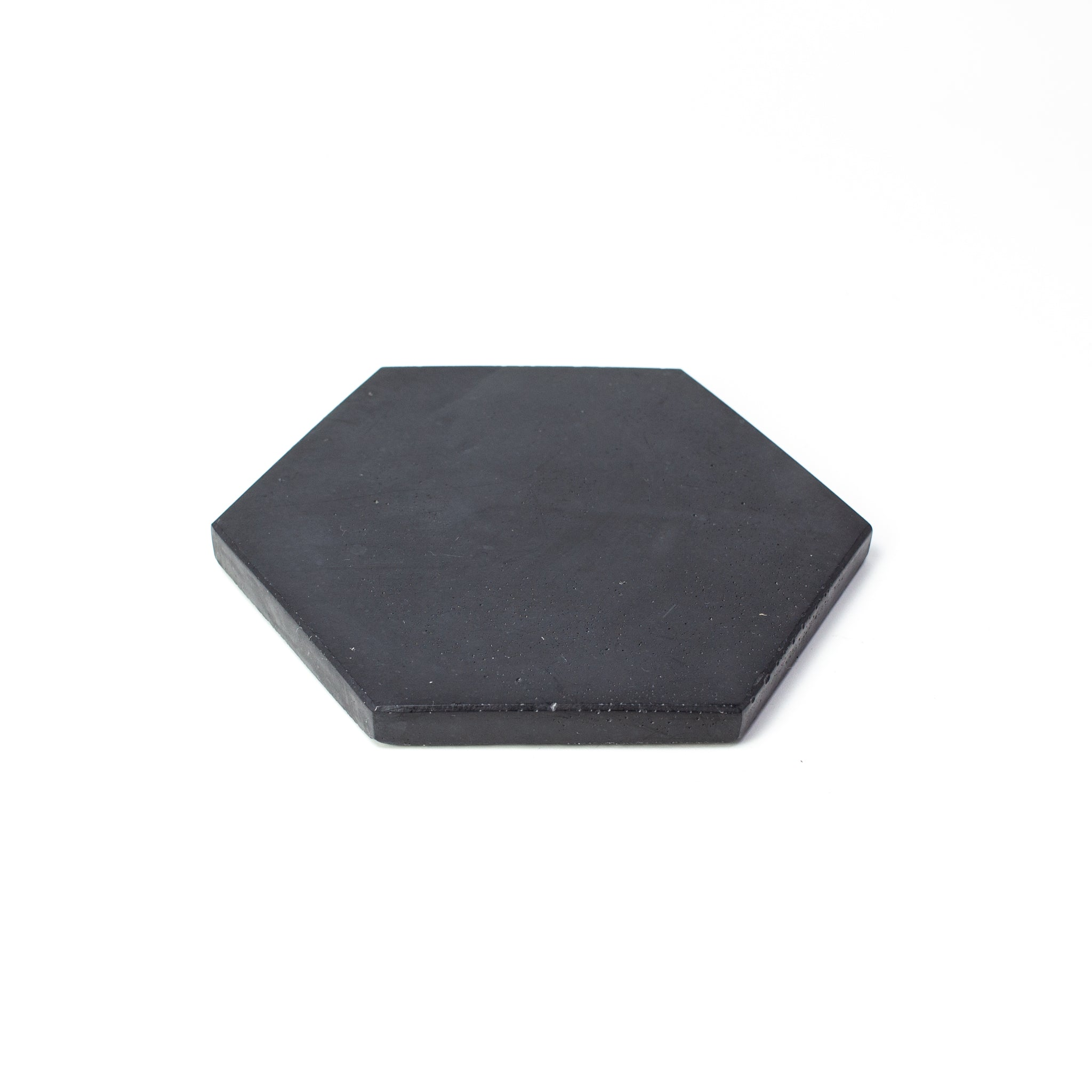 Concrete Hexagon Coaster: Carbon Black