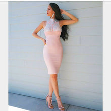 Embellished Nude Bandage Dress