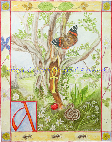 Original Painting - Folklore Alphabet - A