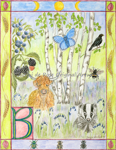 Original Painting - Folklore Alphabet - B