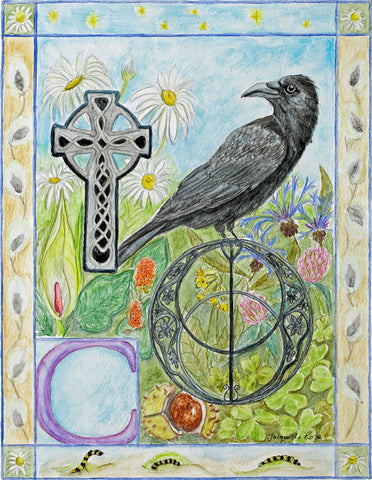 Original Painting - Folklore Alphabet - C