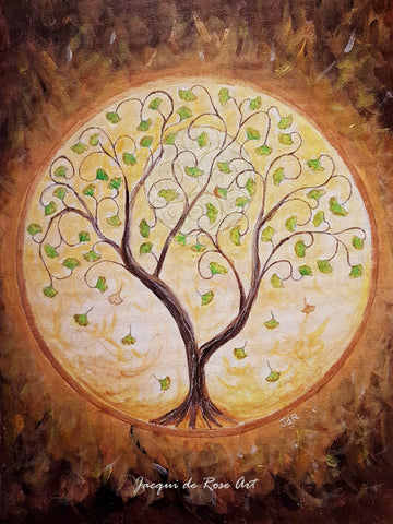 "Card - 7 x 5"" - A - Tree of Life - Gingko"