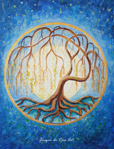 "Card - 7 x 5"" - A - Tree of Life - Willow"