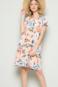 Delight Floral Dress - Blush