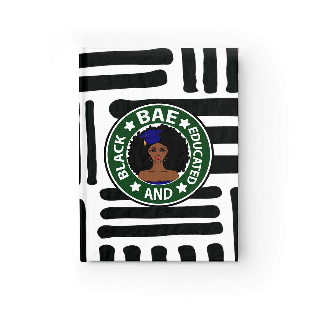 """Black And Educated"" Hardcover Journal - Ruled Line"