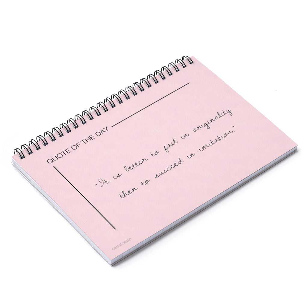 """Quote Of The Day"" Spiral Notebook - Ruled Line"