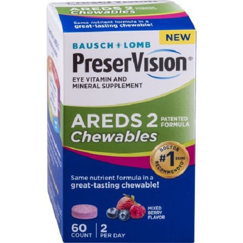 Bausch+Lomb PreserVision Areds 2 Chewables, 60ct 324208697634A1585