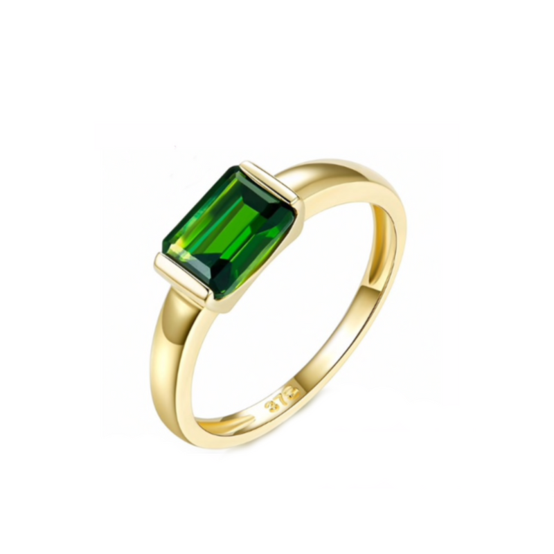 Chrome Diopside Gemstone Ring