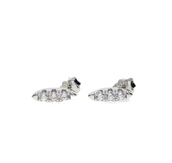 Platinum Bar Stud Earring