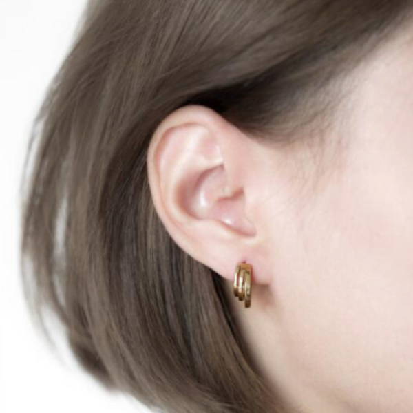 Gold Triple Threat Earrings