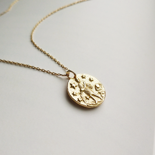 Saturn Gold Pendant