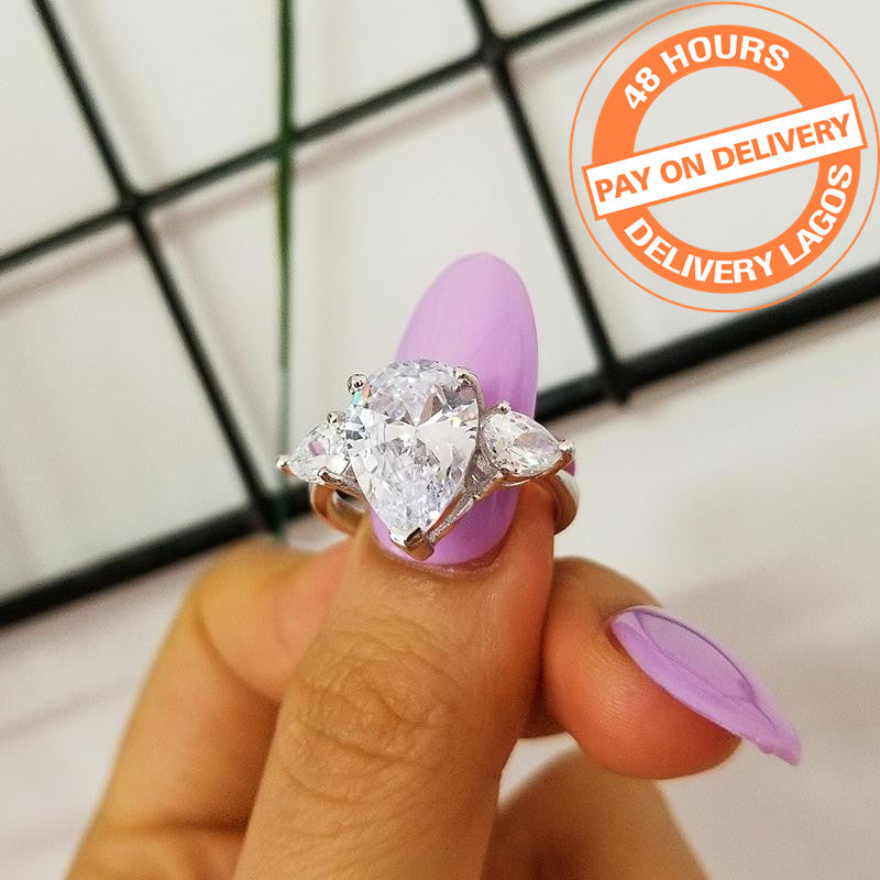 925 Sterling Silver Ring For Women Luxury Wedding Engagement Jewelry R1904SBuy mate