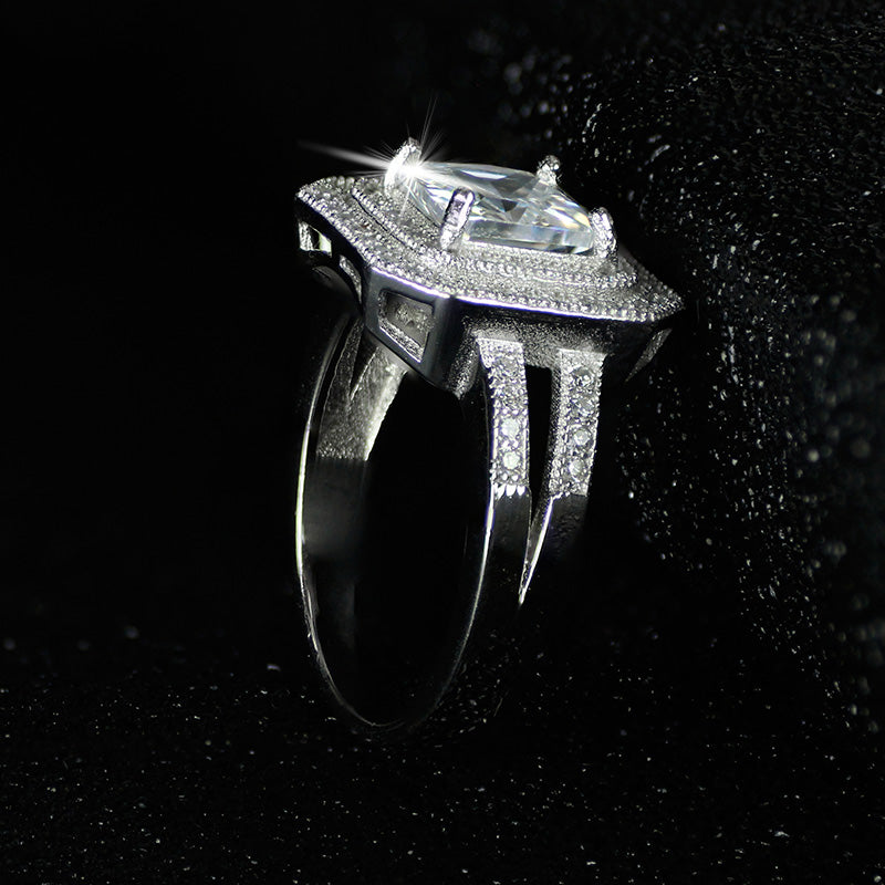 R786S -  TWLLE Jewelry - Affordable Sterling Silver Wedding Engagement Ring in Nigeria