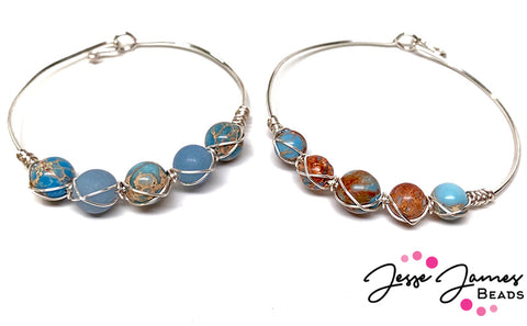 Easy wire wrapped bangle tutorial