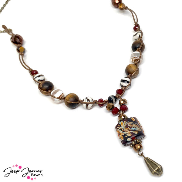 Jesse James Beads - Sara Ellis - Dakota Stones - LeatherCord USA - necklace - macrame Necklace - JJB Beads - Dakota Stones Bead Mixes