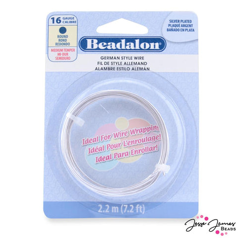 Beadalon German Style Wire in 16 Gauge Silver