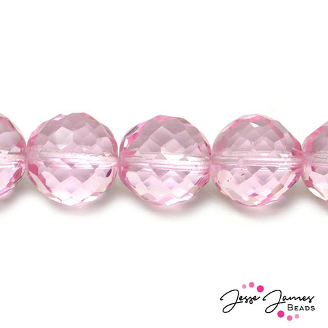 Pink Bubblegum Big Boy Czech 18mm Beads