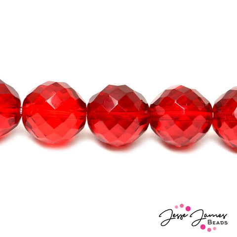 Bead Set in Red Cherry Czech 18mm Glass Beads