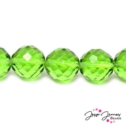 Green Lime Big Boy Czech 18mm Beads