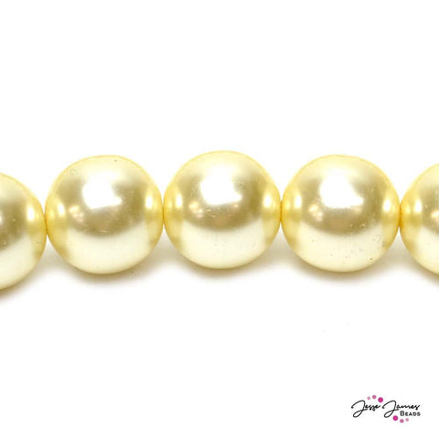 Cream Big Boy 16mm Czech Glass Pearls