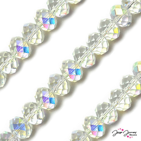 Crystal AB Big Boy 14mm Rondelle Glass Beads