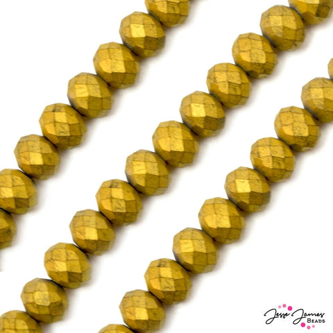 Beads Set Going Gold Matte 12MM ChiChi Glass