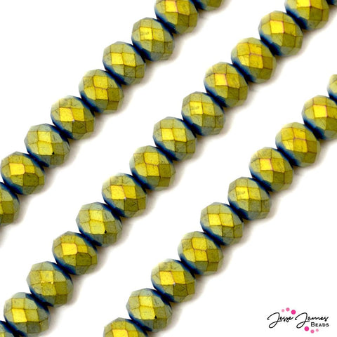 Bead Set in Oxidized Gold 12MM ChiChi Glass