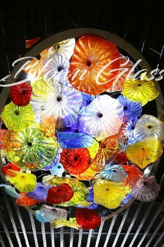 Ceiling in Bloom Hand Blown Glass Plates - Blown Glass Collective