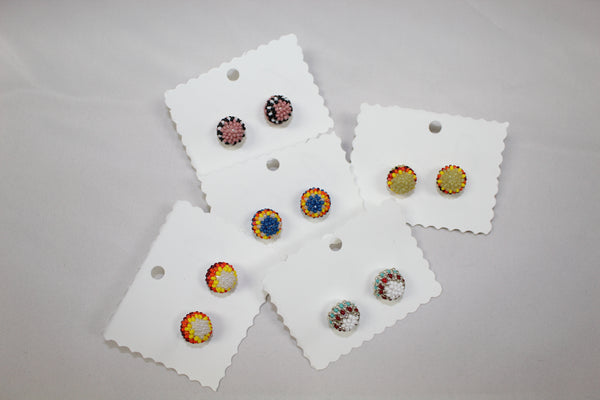 Large Beaded Studs - Various