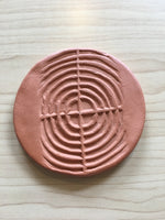 Mississsippian Design Clay Coasters
