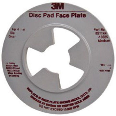 3M™ Disc Pad Face Plate Ribbed, 5 in. Medium GrayLiquid error (line 13): comparison of String with 0 failed
