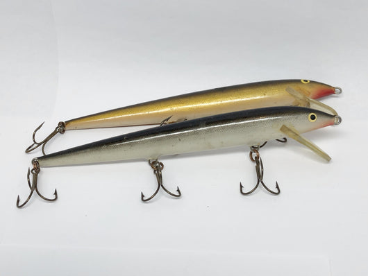Lot of Two Long Rapala Minnows